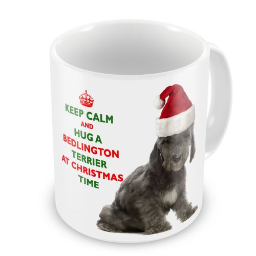 Christmas Keep Calm And Hug A Bedlington Terrier Novelty Gift Mug